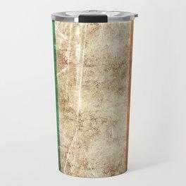 Vintage Aged and Scratched Irish Flag Travel Mug