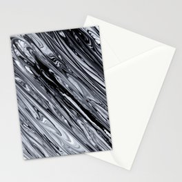 Black & White Striped Marble Print.jpg Stationery Cards