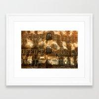 cosima Framed Art Prints featuring Sunshine & Brick by Cosima Higham