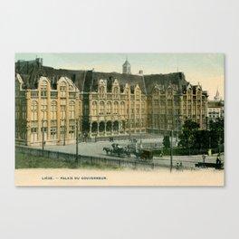 Vintage Liège Belgium governor's palace Canvas Print