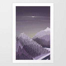 Winter Rising Art Print