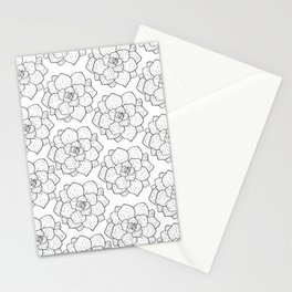 Succulent Spirals Stationery Cards