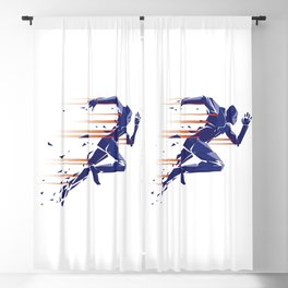 Running man Blackout Curtain