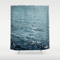 The Sparkle of the Sea Shower Curtain