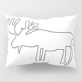 Line Moose Pillow Sham