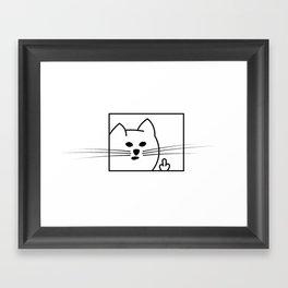 Rough Cat Framed Art Print