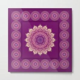 Indian Mandala ornament Metal Print