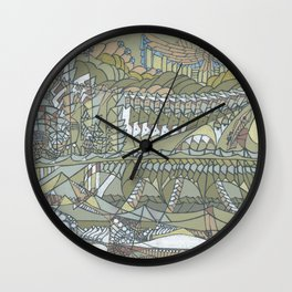 The Strait of Medina Wall Clock
