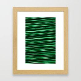 black and green weave Framed Art Print