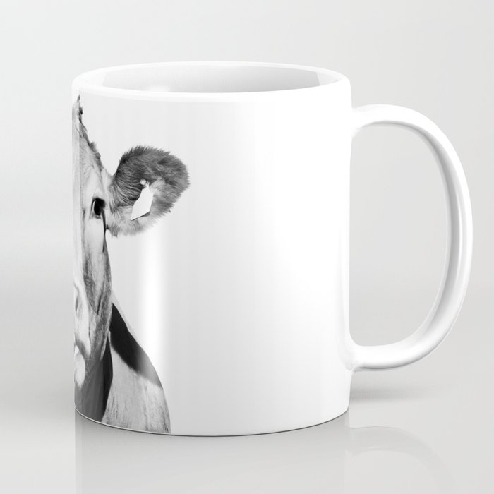 cow photo black and white coffee mug by ccartstudio society6