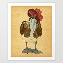 Plumpkin Ploshkin Pelican Jill Art Print