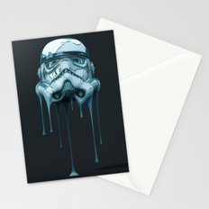 Stormtrooper Melting Dark Stationery Cards