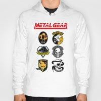 metal gear Hoodies featuring Metal Gear by Khaled