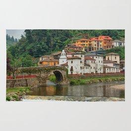 Stone Bridge Asturias Spain Rug