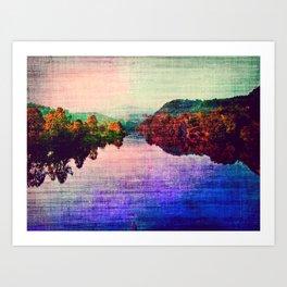 Vintage River Part 2 Art Print