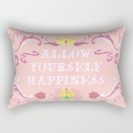 Allow Yourself Happiness Fairytale Sign Rectangular Pillow