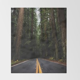 The Road to Wisdom - Nature Photography Throw Blanket