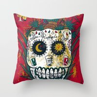 tequila Throw Pillows featuring Tequila by Jorge Garza