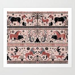Greek Mythical Beasts Art Print