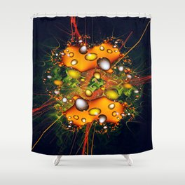 Galaxy Explosion Shower Curtain