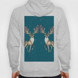 Deers With Birds Teal #society6 #buyart Hoody