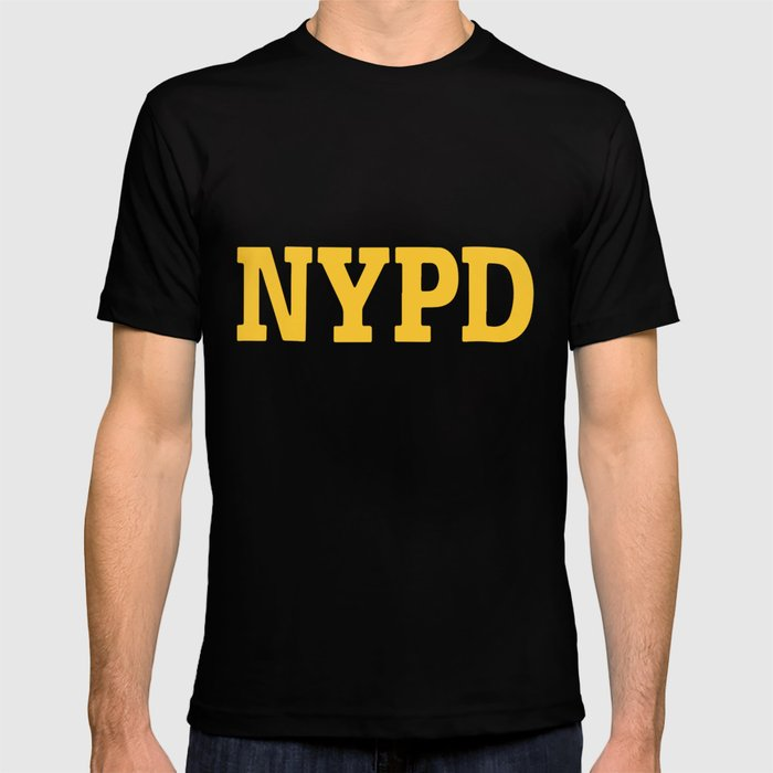 81408ad0d Nypd Navy Blue Sleeve Badge Department Police T-shirt by ...