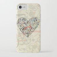 brompton iPhone & iPod Cases featuring I Love Brompton Bikes by Wyatt Design