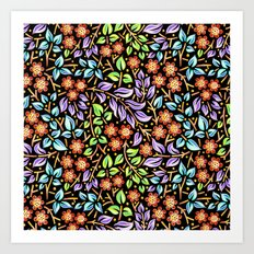 Filigree Floral smaller scale Art Print