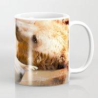 bears Mugs featuring Bears by Sylvia C