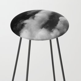 Clouds in black and white Counter Stool