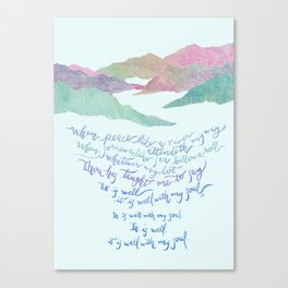 It Is Well With My Soul-Hymn Canvas Print