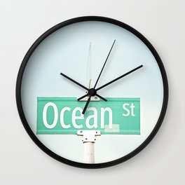 Ocean Photography, Beach Photo, Seashore Decor, Seaside Picture, Coastal Beach House Wall Art Wall Clock