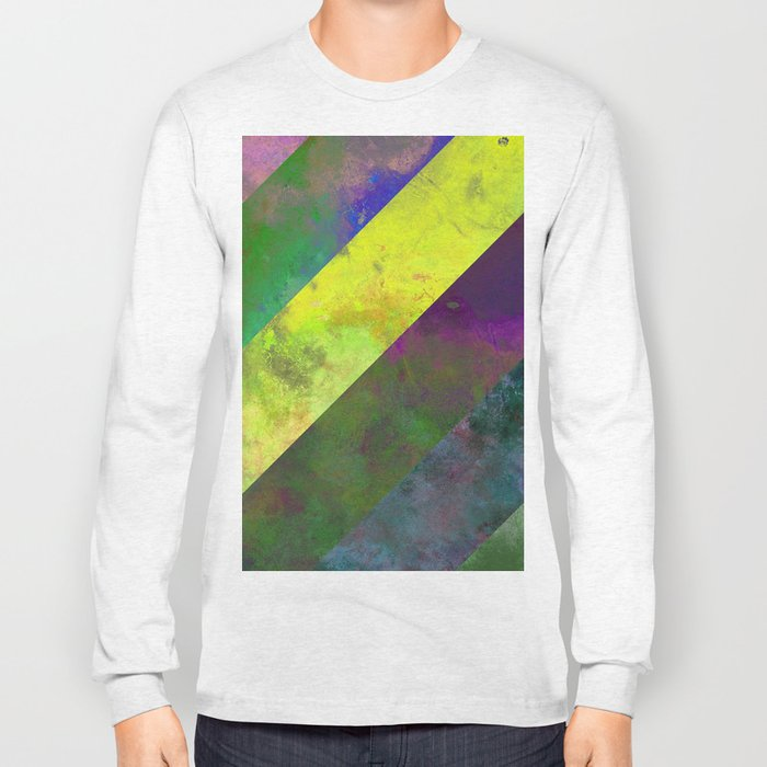 45 Degrees - Abstract, textured, diagonal stripes Long Sleeve T-shirt