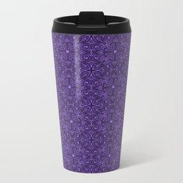 Purple Swirl pattern Metal Travel Mug
