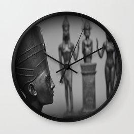 Nefertiti & The Original Kemetic Trinity Wall Clock