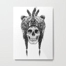 Dead shaman (b&w) Metal Print