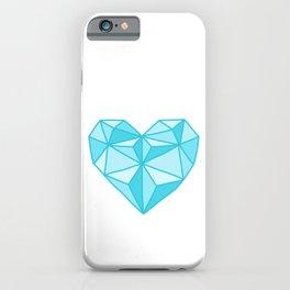 Geometric Diamond Heart - Topaz iPhone Case