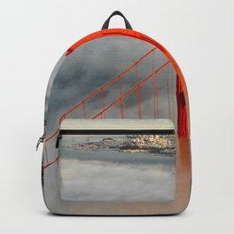 Golden Gate Bridge, San Francisco on Foggy Morning Backpack