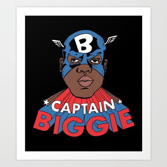 Captain Biggie Art Print