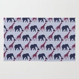 Jirafa y Elefante Patrón Rug