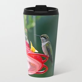 Perched Hummingbird Travel Mug