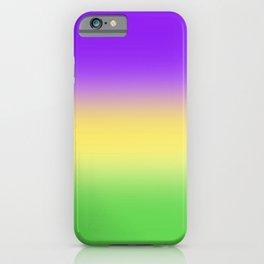 Mardi Gras Ombré Gradient iPhone Case