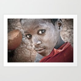 Child of Djenné, Mali Art Print