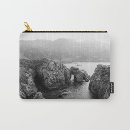 Ocean Arches   Black and White Nature Landscape Photography in California Carry-All Pouch