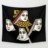 queen Wall Tapestries featuring Queen by Jason St. Peter
