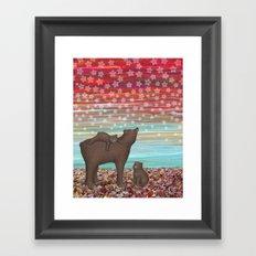brown bears and stars Framed Art Print
