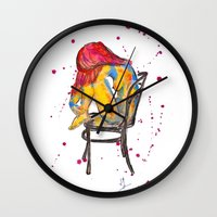 selena Wall Clocks featuring selena by Laurie Art Gallery