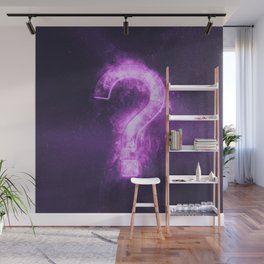 Question mark sign. Abstract night sky background. Wall Mural