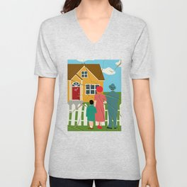 Income Inequality Impairs The American Dream Of Upward Mobility Unisex V-Neck