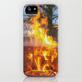 The World is on Fire iPhone Case
